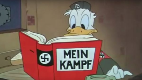 Propaganda War Time Animation Donald Duck Mein Kampf Der Fuehrers Face