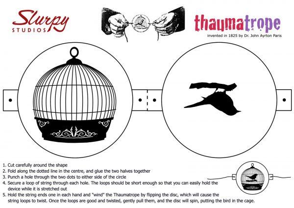 Thaumatrope Template Slurpy Studios