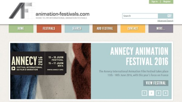 Animation Festivals Directory List Website