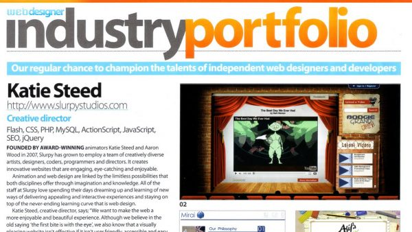 Web Designer Magazine – Industry Portfolio Interview Slurpy Studios