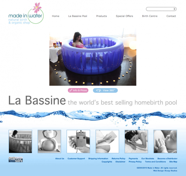 Made in Water Web Design