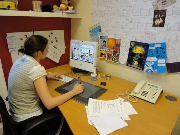 Katie Steed Slurpy Studios Desk