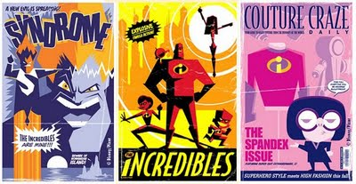 Incredibles Retro Movie Poster