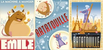 Ratatouille Retro Movie Poster