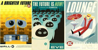 wallE Retro Movie Poster