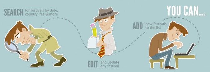 animation festivals - search, edit, add