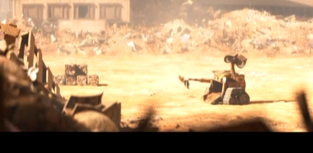 Picture of wall-e scene animated by louis clichy