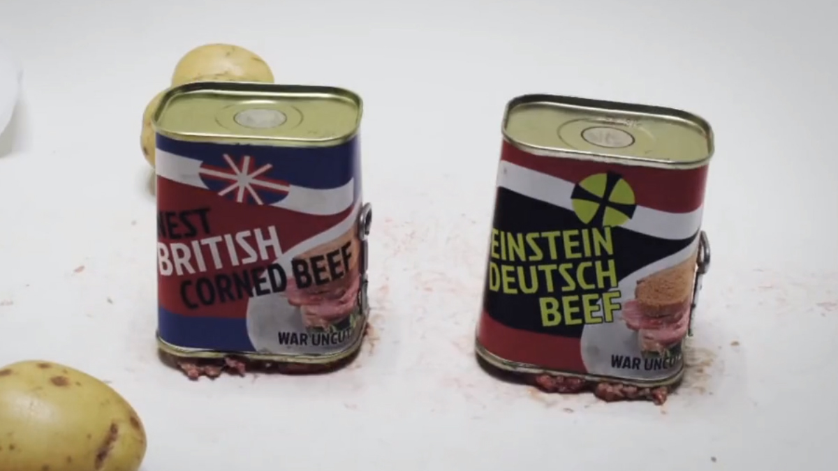 Behind World War One Uncut Soldiers Food Ration
