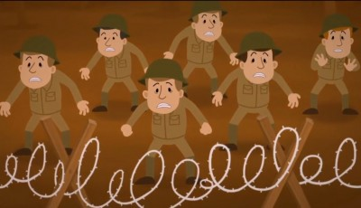 BBC WW1 Uncut Animation (Dan Snow) Barbed Wire