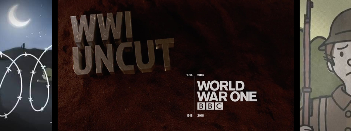 BBC World War 1 Uncut Centenary Animation Title