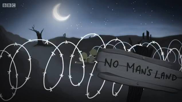 No man's land at night animated sequence