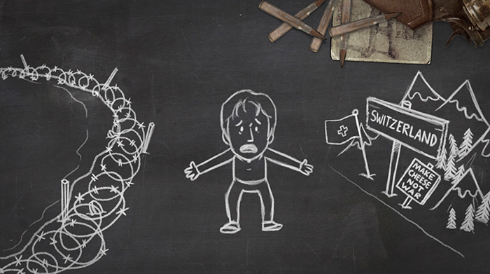 World War One Trenches Blackboard Animation 2