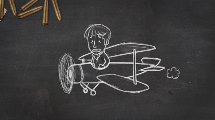 World War One Trenches Blackboard Animation 1