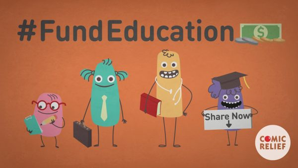 Animated infographic film for Comic Relief charity Fund Education campaign