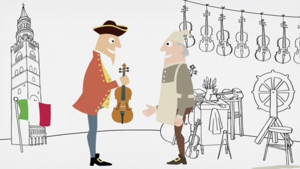 Part explainer animation, part promotional film for Cozio Tarisio violins