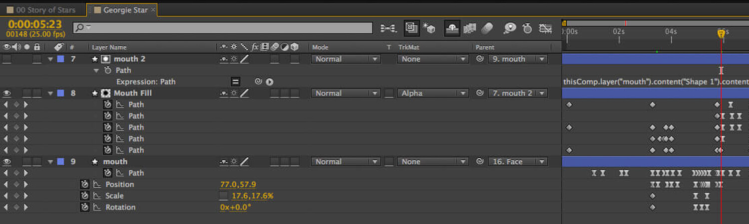 How to Lip Sync in After Effects Using Shape Layers
