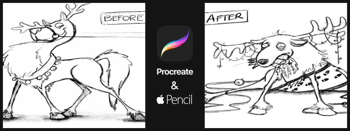 Slurpy Check Out 'Procreate for iPad' to Design Studio Christmas Card