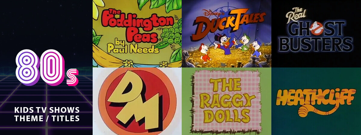Classic Animated Children's TV Theme Tunes & Titles From the 80's: Part 1