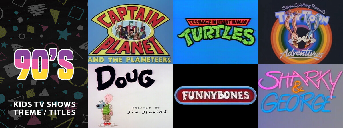 Classic Animated Children's TV Theme Tunes & Titles From the 90's