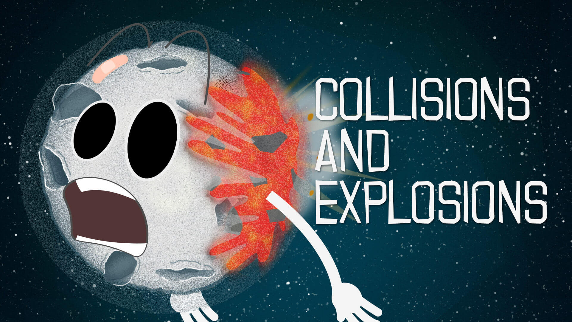 Education animation for children for Royal Observatory Greenwich - Collisions and Explosions