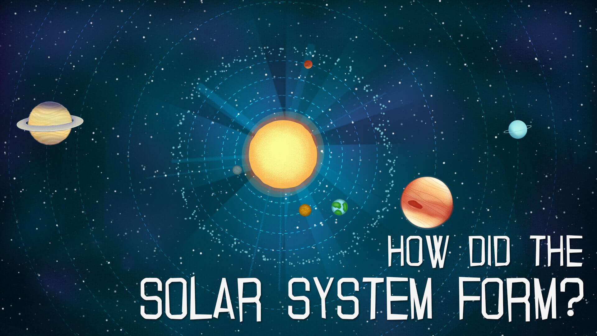 Educational animation films for children for Royal Observatory Greenwich - How did the Solar System form