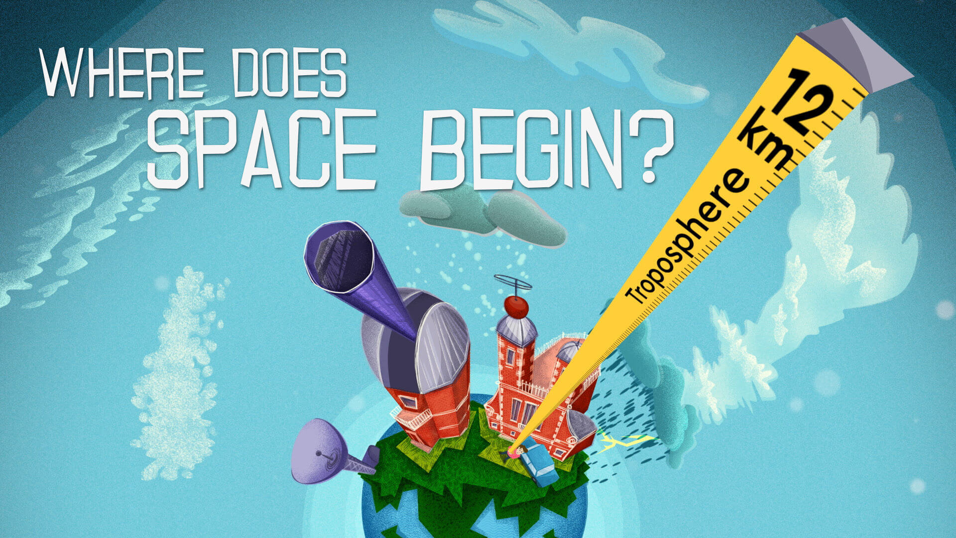 Educational animation for children for Royal Observatory Greenwich - Where does Space Begin
