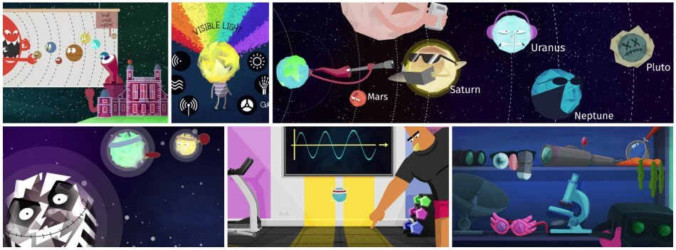 Educational animation explainer films for Key Stage 2 - Science - Story of Stars