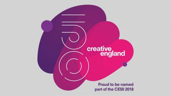 Creative England CE50 2018 logo