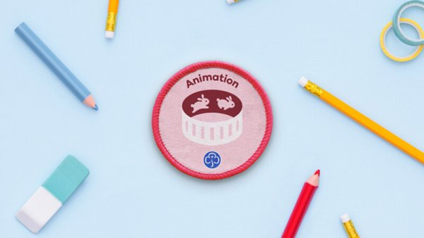 Animation Girlguide badge