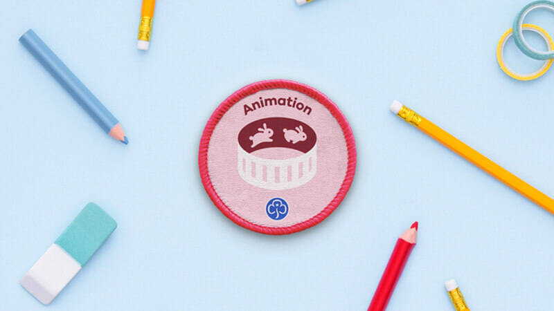 Animation Girlguide badge